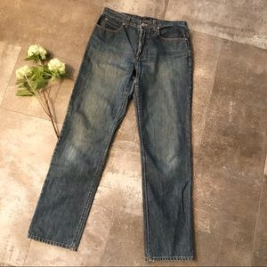J. CREW button fly straight leg jeans 10 tall high